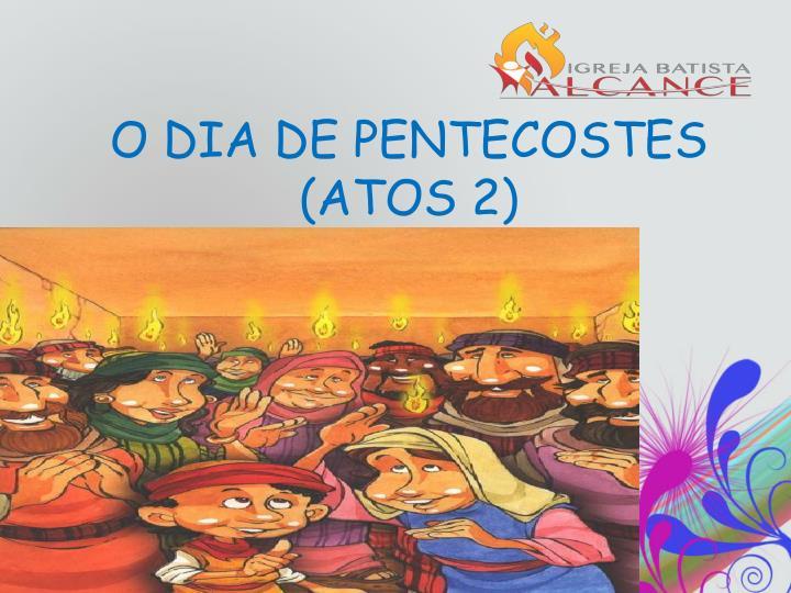 O DIA DE PENTECOSTES (ATOS 2)