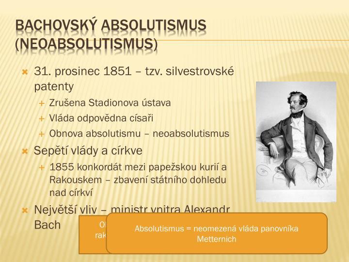 Bachovský absolutismus (