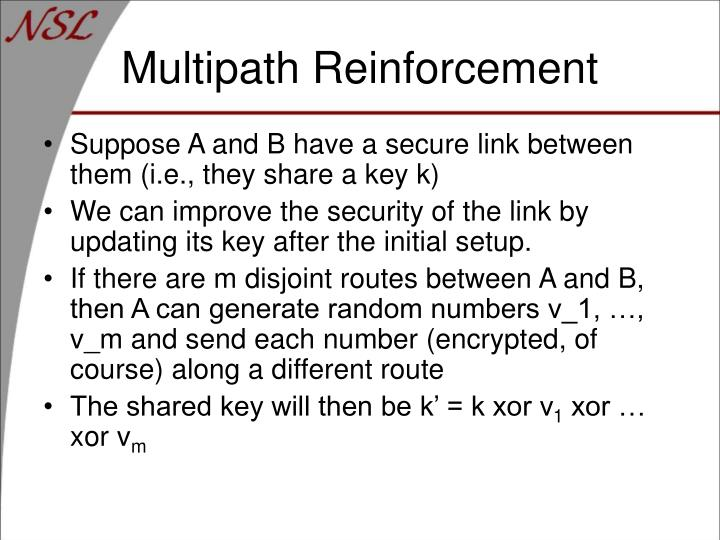 Multipath Reinforcement