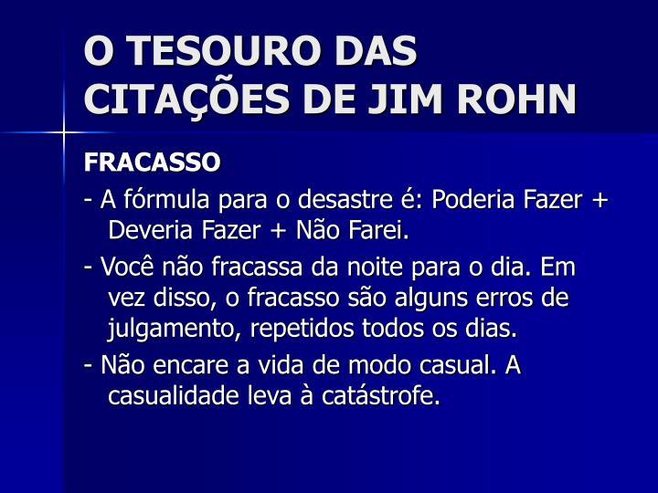 O TESOURO DAS CITAÇÕES DE JIM ROHN