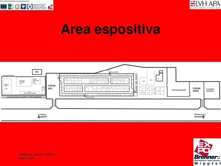 Area espositiva