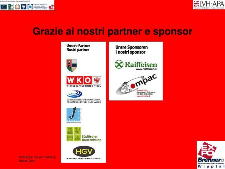 Grazie ai nostri partner e sponsor