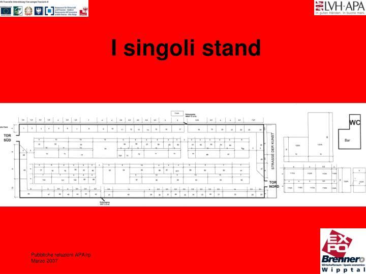 I singoli stand