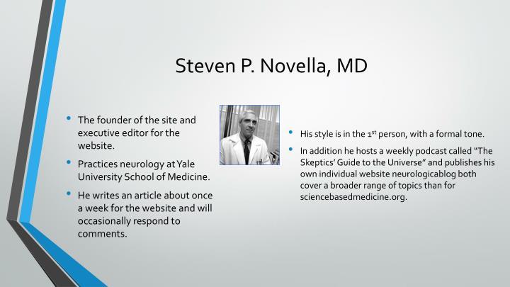 Steven P. Novella, MD
