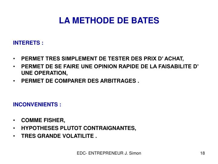 LA METHODE DE BATES