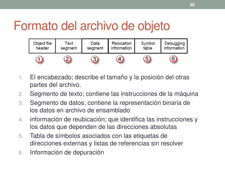 Formato del archivo de objeto