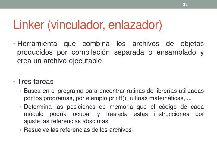 Linker (vinculador, enlazador)