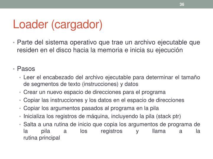 Loader (cargador)