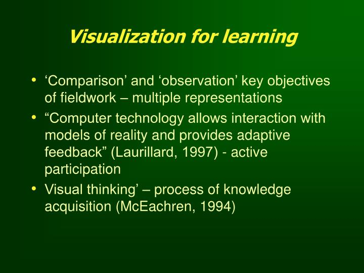 Visualization for learning