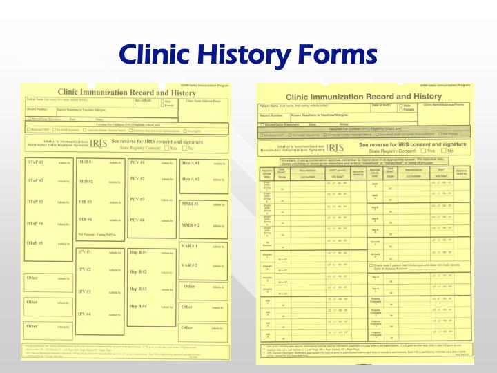 Clinic History Forms