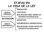 etapas en la vida de la ley5