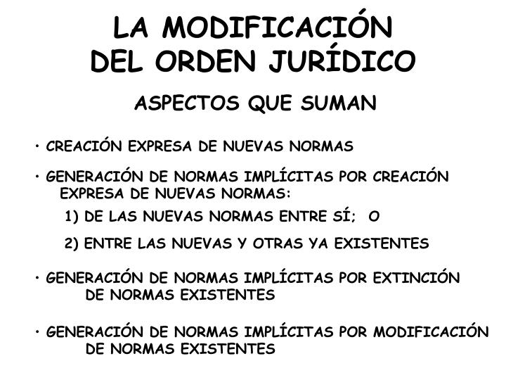 LA MODIFICACIÓN
