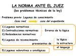 la norma ante el juez los problemas t cnicos de la ley1