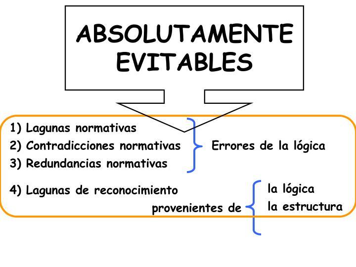 ABSOLUTAMENTE EVITABLES