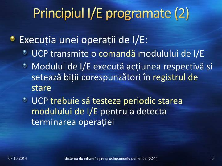 Principiul I/E programate (2)