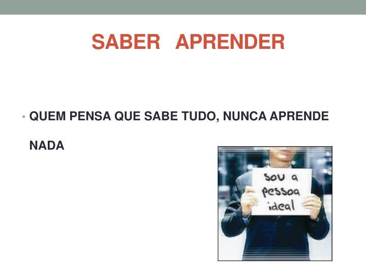 SABER   APRENDER