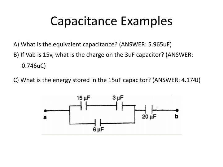 Capacitance Examples