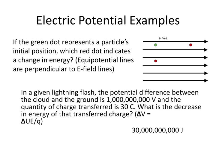 Electric Potential Examples
