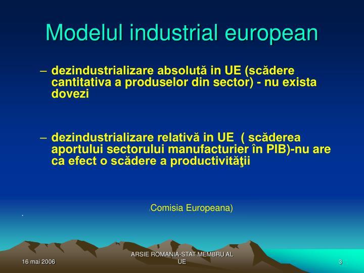 Modelul industrial european