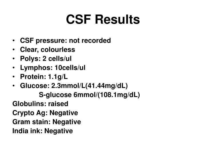 CSF Results