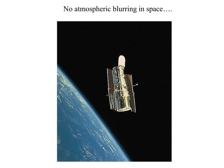 No atmospheric blurring in space….