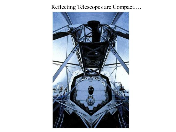 Reflecting Telescopes are Compact….