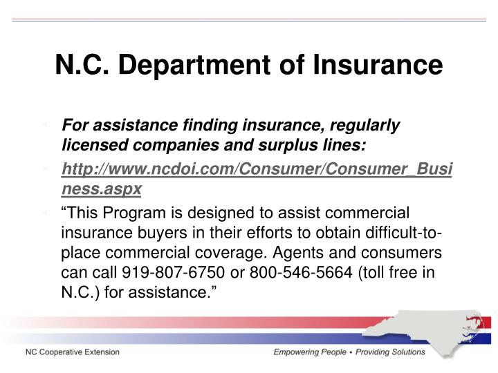 N.C. Department of Insurance
