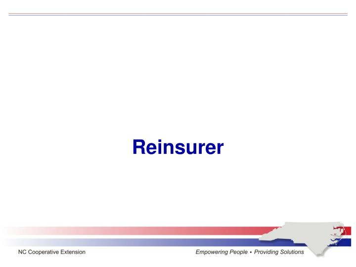 Reinsurer