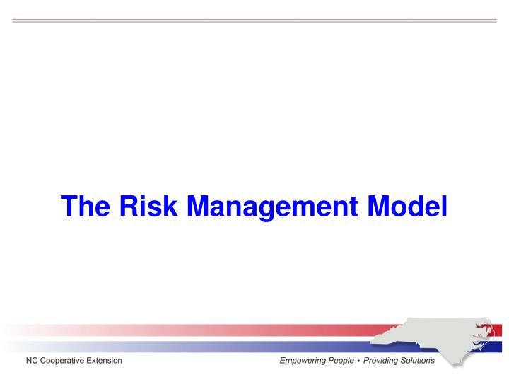 The Risk Management Model