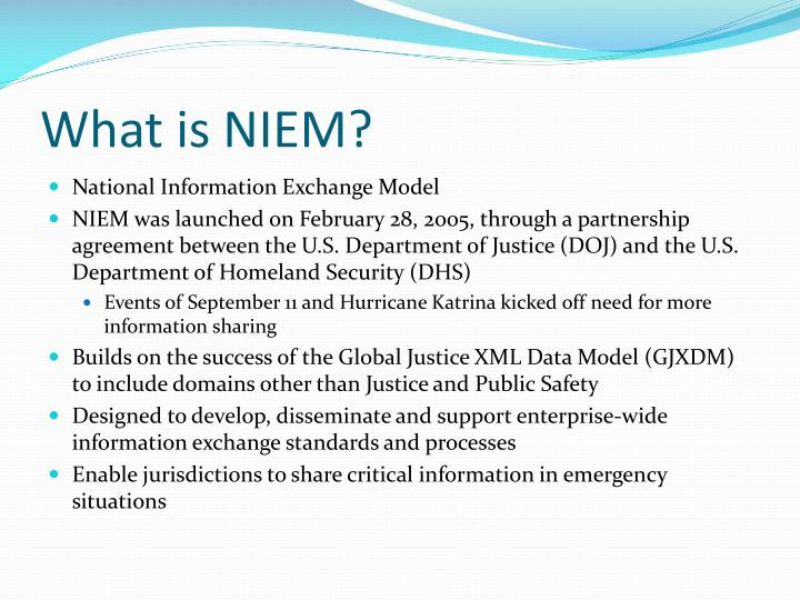 What is niem