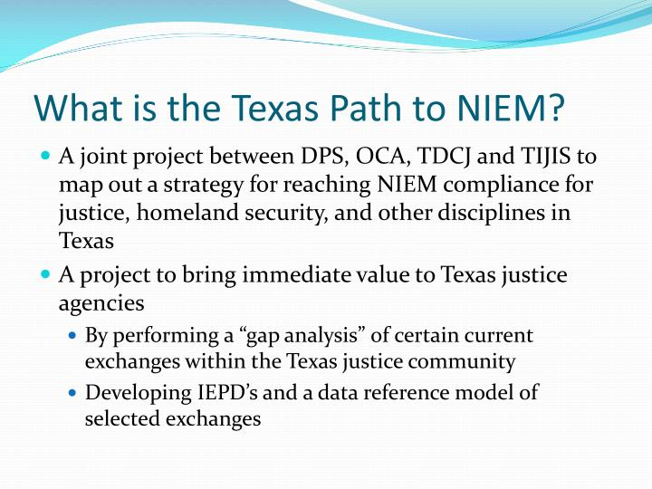 What is the Texas Path to NIEM?