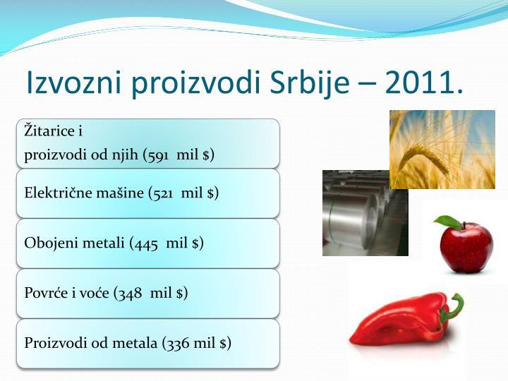 Izvozni proizvodi Srbije –