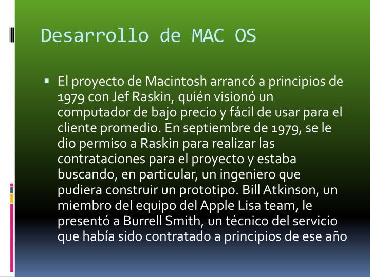Desarrollo de MAC OS