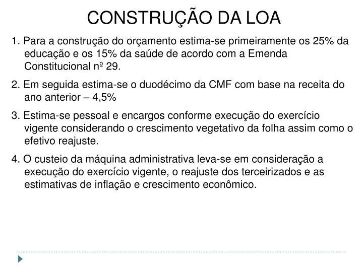 CONSTRUÇÃO DA LOA