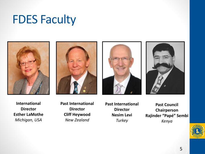 FDES Faculty