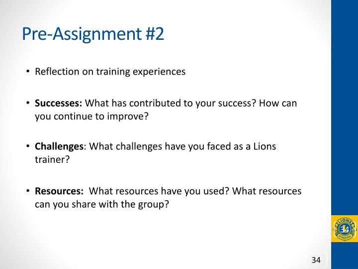 Pre-Assignment #2