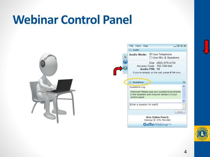 Webinar Control Panel