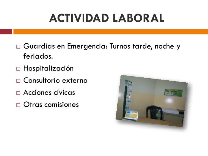 ACTIVIDAD LABORAL