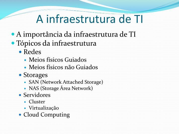 A infraestrutura de TI