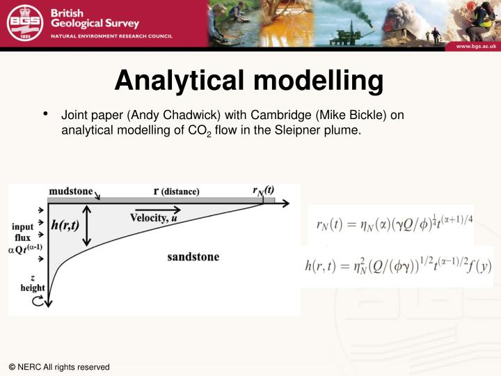 Analytical modelling