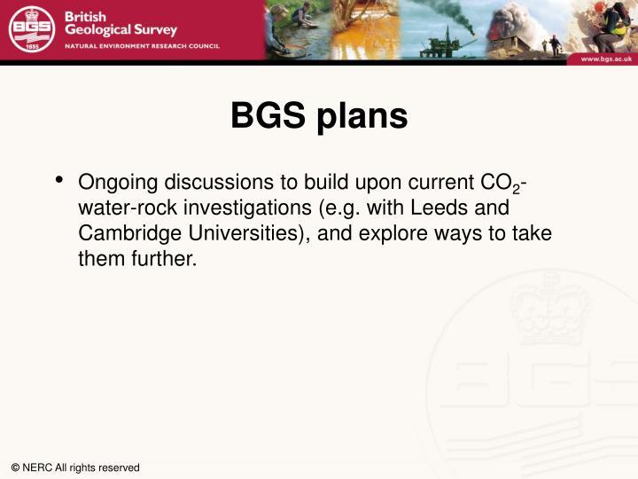 BGS plans