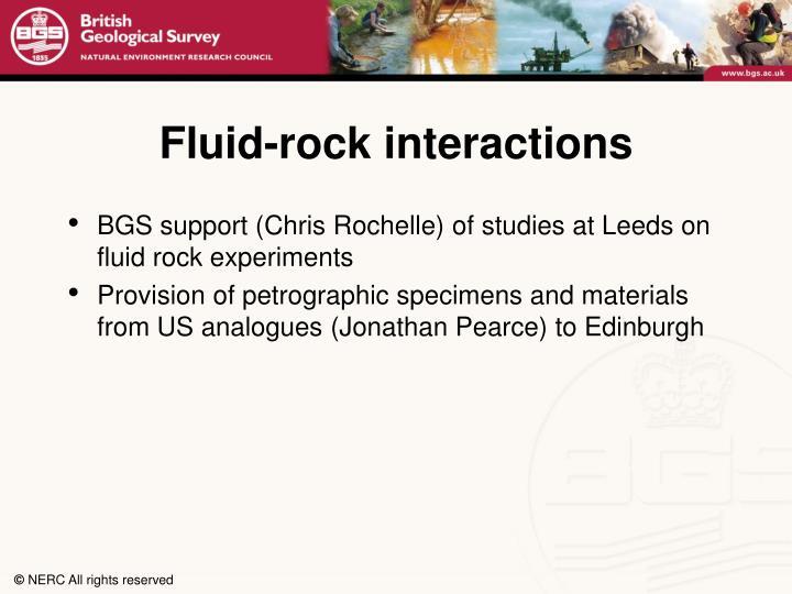 Fluid-rock interactions