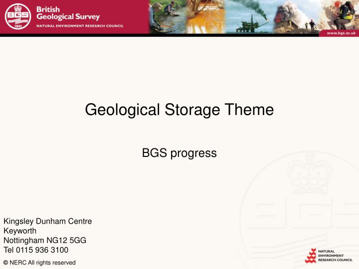 Geological Storage Theme
