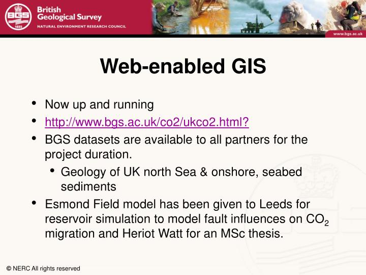 Web-enabled GIS