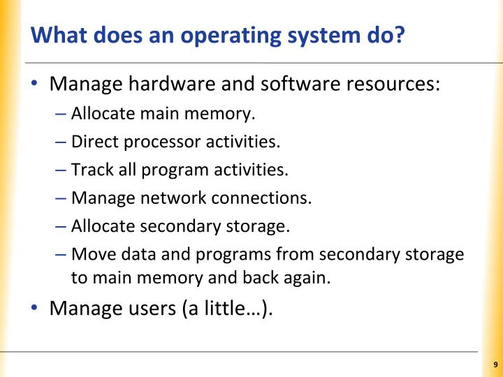What does an operating system do?