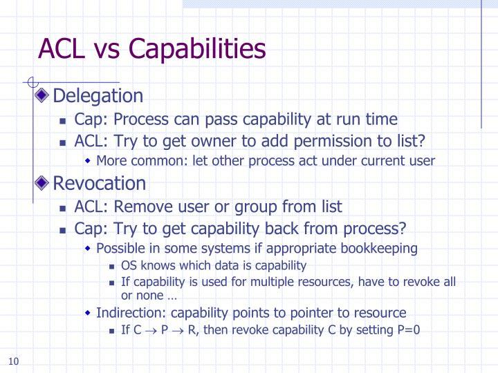 ACL vs Capabilities