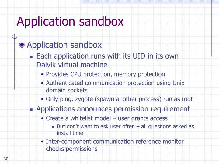 Application sandbox