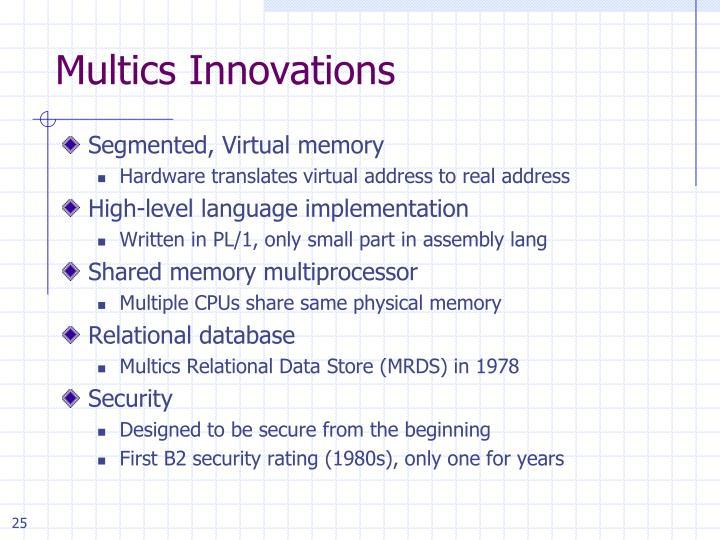 Multics Innovations