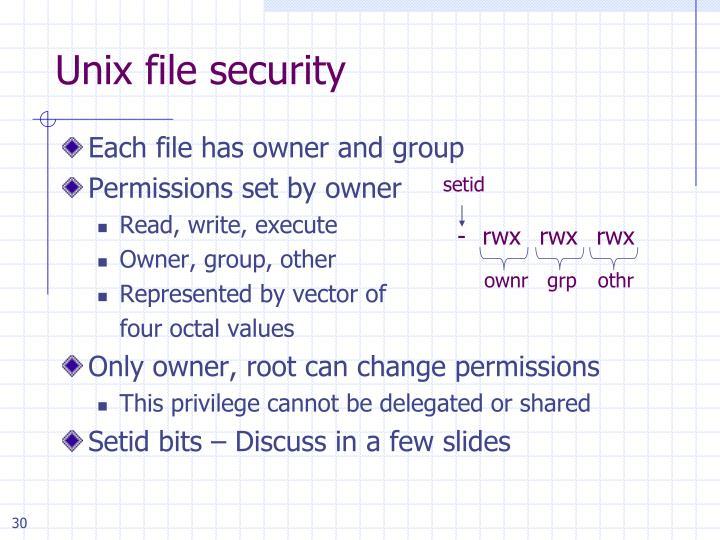 Unix file security