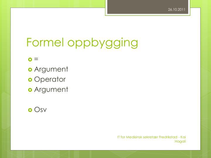 Formel oppbygging
